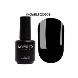 Гель-лак Komilfo Deluxe Series №D001 черный эмаль 15 мл