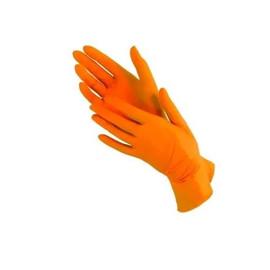 Перчатки нитриловые Nitrylex розмір M оранжевые Orange 100 шт