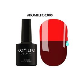 Гель-лак Komilfo DeLuxe Termo №C005 бордово-коричневый при нагревании красный 8 мл