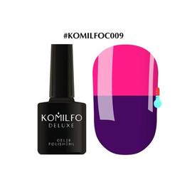 Гель-лак Komilfo DeLuxe Termo №C009 яркий фиолетовый при нагревании яркий розовый 8 мл