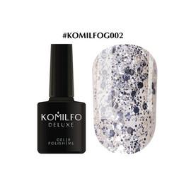 Гель-лак Komilfo DeLuxe Series №G002 серебристый крупные блестки 8 мл