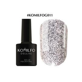 Гель-лак Komilfo DeLuxe Series №G011 белое золото с блестками 8 мл