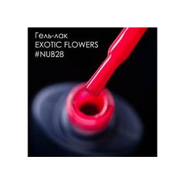 Гель-лак NUB № 028 EXOTIC FLOWERS (яркий коралловый), 8 мл