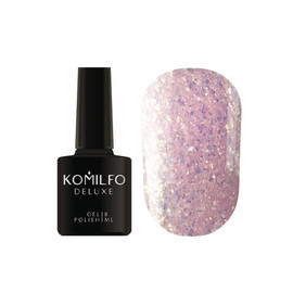 Гель лак Komilfo Spring Jazz SJ003 молочно-розовый с золотыми блестками 8 мл