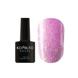 Гель лак Komilfo Spring Jazz SJ004 розовый с золотыми блестками 8 мл