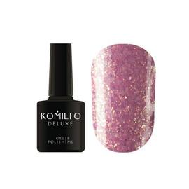 Гель лак Komilfo Spring Jazz SJ006 темный фиолетово-розовый с золотыми блестками 8 мл