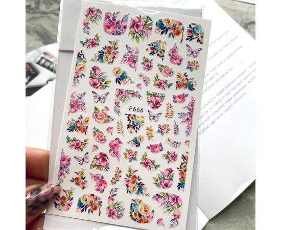 Наклейки для дизайна F 666 цветы