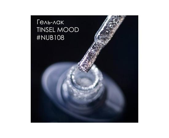Гель-лак NUB № 108 TINSEL MOOD (серебряные блестки), 8 мл