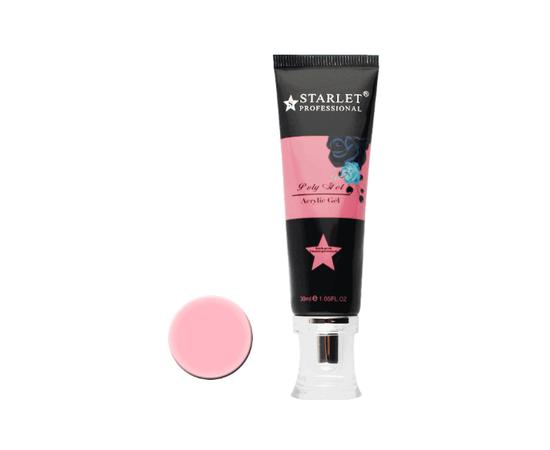 Акрил-гель камуфлирующий с шиммером Starlet Shimmer Poly Gel №3 30 мл