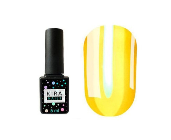 Гель-лак для ногтей Kira Nails Vitrage №V02 желтый витражная 6 мл