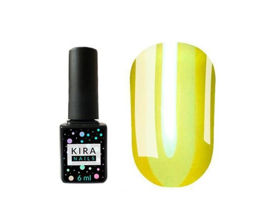 Гель-лак Kira Nails Vitrage №V03 желто-зеленый витражная 6 мл