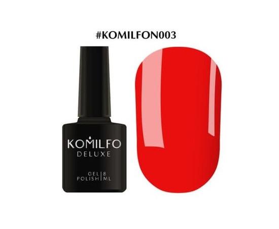 Гель-лак Komilfo DeLuxe Series №N003 насыщенный ярко-оранжевый неоновый 8 мл