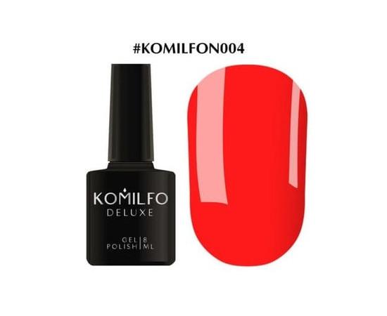 Гель-лак Komilfo DeLuxe Series №N004 ярко-оранжевый неоновый 8 мл