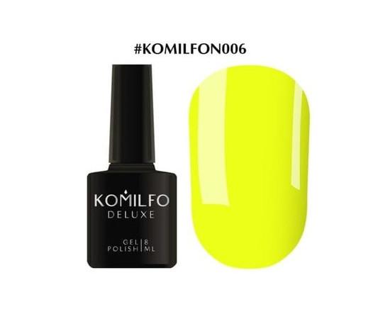 Гель-лак Komilfo DeLuxe Series №N006 желтый неоновый 8 мл