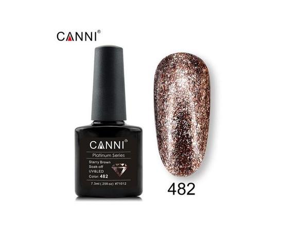 Гель-лак Canni Жидкая фольга №482 светлая бронза 7.3 мл