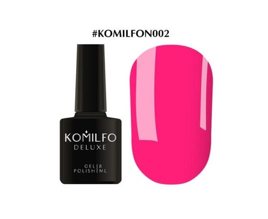 Гель-лак Komilfo DeLuxe Series №N002 ярко-розовый неоновый 8 мл