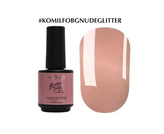 Гель Komilfo Bottle Gel Nude Glitter 15 мл