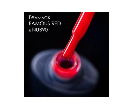 Гель-лак NUB № 090 FAMOUS RED малиново-розовый 8 мл