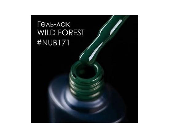 Гель-лак NUB № 171 Wild Forest (темно-зеленый, эмаль), 8 мл