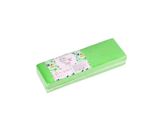 Полоски для депиляции Panni Mlada, 7х22 см, зеленые, 100 шт