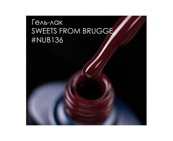 Гель-лак NUB № 136 Sweets From Brugge вишневый бордо 8 мл