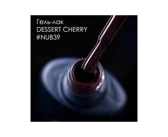 Гель-лак NUB № 039 Dessert Cherry темно-коричневый эмаль 8 мл