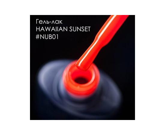 Гель-лак NUB № 001 Hawaiian Sunset ярко-оранжевый эмаль 8 мл