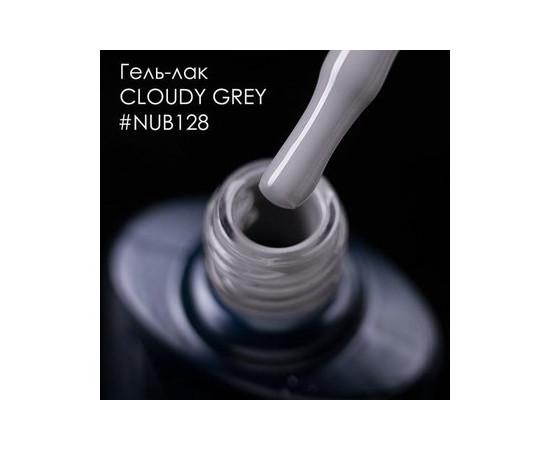 Гель-лак NUB № 128 CLOUDY GREY (серый), 8 мл