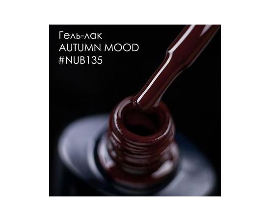 Гель-лак NUB № 135 Autumn Mood (бордово-коричневый), 8 мл