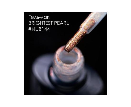 Гель-лак NUB № 144 BRIGHTEST PEARL мелкие мерцающие блестки и слюда на прозрачной основе 8 мл