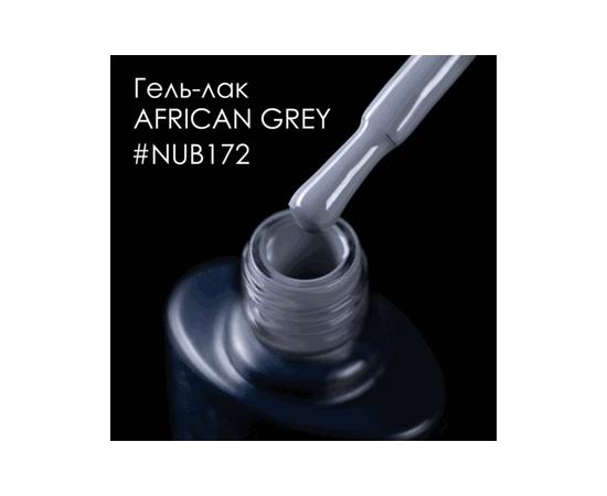 Гель-лак NUB № 172 African Grey (серый, эмаль), 8 мл