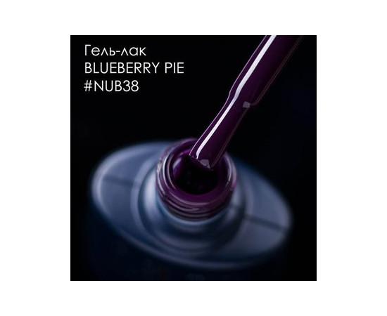 Гель-лак NUB № 038 Blueberry Pie темно-баклажановый эмаль 8 мл