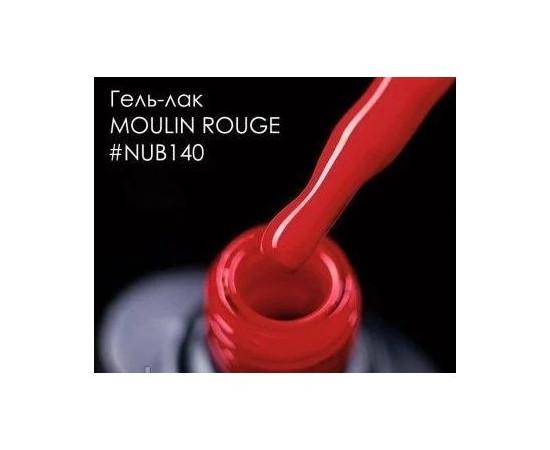 Гель-лак NUB №140 Moulin Rouge насыщенный красный эмаль 8 мл